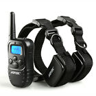 Pet Dog Training Collar Rechargeable/Battery Electric LCD 100LV Shock Two Collar