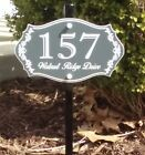 Personalized house number and street name lawn sign - FREE SHIPPING