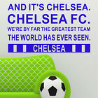 Chelsea Song Lyrics Wall Art FC Football Chant Sport Boys Transfer