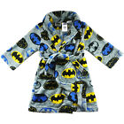 new boys kids Batman superhero dressing gown pjs sleepwear bath robe  size 2-12