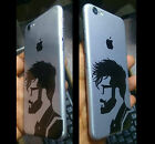 Apple iPhone 6/6 Plus 7/7 Plus Silver and black mustache person skin for back