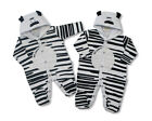 Baby Infant Cute Zebra Character Costume Winter Hooded Jumpsuit