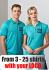 From 3 - 25 shirts Men Coast Polo with Your Embroidered LOGO (Biz P608LS)