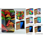 For Samsung Galaxy S9+ S9 S8 S8+ Colour Cubes Print Flip Wallet Phone Case Cover