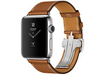 Genuine Leather Band Single Tour Strap Deployment Buckle for Apple Watch Ge 321