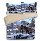 Wolf Quilt/Duvet/Doona Cover Set King/Queen/Single Bed Size Pillowcase Animal