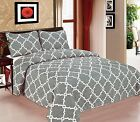 Galaxy Bedspread 3-Piece Quilt Set Soft Quilted Bedding White & Gary NEW image
