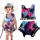 Summer Toddler Baby Kids Girl Clothes Tassel Tops Shorts Bottom 2pcs Outfits Set