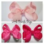 Baby/Toddler/Girl/Adult 2.5 Inch Boutique Bows on Lined Clips - Pinks
