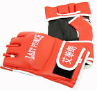 New LAST PUNCH Red Leather MMA UFC Wrist Wrap Fighting Gloves S-XL - Ships Fast!