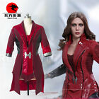 DFYM The Avengers Scarlet Witch Cosplay Costume Red Long Coat