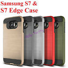 Samsung Galaxy S7&S7 EDGE Case Hybrid 2 in 1 Brushed Shockproof Heavy Duty Cover