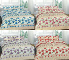 Roses 4 Pcs Printed Duvet Cover + Valance Sheet Complete Bedding Set