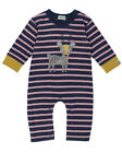 Lilly and Sid Little Deer Applique Baby Girl Playsuit - 0-3, 3-6 & 6-12 Months