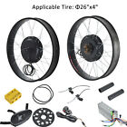 "1000W 48V 26"" Front/Rear Wheel Electric Bicycle Motor Conversion Kit Fat Wheel"