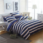 Striped Quilt/Duvet/Doona Cover Set Queen/King All Size Fitted Sheet Bed Set New
