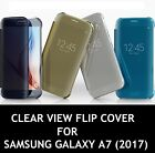 New CLEAR VIEW FLIP Cover Case For Samsung Galaxy A7 (2017)