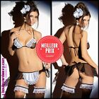 ❌ Costume Soubrette Sexy ❌ French Maid Déguisement ❌ Complet (String,Jupe,Bas..❌