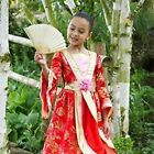 New Girls Red & Gold Oriental Princess Fancy Dress Outfit  Costume