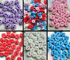 SET OF 20 X TINY BUTTONS ACRYLIC WITH 2 HOLES 5MM IN DIAMETER