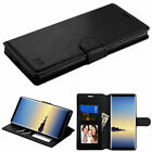 For Samsung GALAXY S8 / S8 Plus Leather Flip Wallet Case Cover Stand BLACK