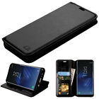 For Samsung GALAXY S8 / S8 Plus Leather Flip Wallet Case Cover Stand BLACK фото