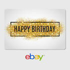 eBay Digital Gift Card - Happy Birthday Gold Glitter -  Fast email delivery <br/> US Only. May take 4 hours for verification to deliver.