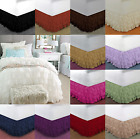 "NEW 1PC SOLID PLAIN BED DRESSING RUFFLE SKIRT 20"" INCH DROP 5 LAYERED IN 4 SIZES image"