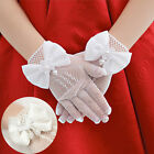 New Kids Cream Lace Pearl Fishnet Gloves Communion Wedding #S Flower Girl Party