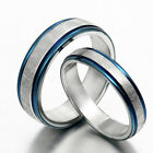 US Blue Men Women Wedding Engagement Anniversary Titanium Rings Sz4-16 F1