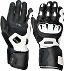 Weise Vortex Mens Black White Kangaroo Leather Sport Motorcycle Gloves RRP£99.99