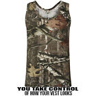 MENS SLEEVELESS VEST CAMOUFLAGE JUNGLE PRINT ARMY COMBAT HUNTING FISHING TOPS