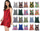 New Women's Ladies Printed Aztec Floral Sleeveless Strappy Swing Vest Size 8-26