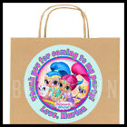 Shimmer and Shine Birthday Party Favor Bag STICKERS - Personalized Labels