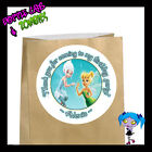 Tinkerbell Periwinkle Birthday Party Favor Goody Bag STICKERS - Personalized WHT