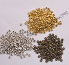 100Pcs Tibetan Silver/Gold/Bronze Spacer Beads Jewelry Findings 4MM Z3080
