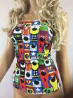 BOOB TUBE TOP Marvel Super Hero CATS Long Bandeau Stretch Lycra Party Club F3