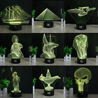 Egypt 3D LED illusion Night Light 7 Color Bedroom Lamp USB&Battery Creative Gift on eBay