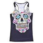 New Casual Skull floral Printed Tank Top Fitness vest Sleeveless  S-4XL 0005