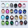20p 10x14mm oval point foiled back crystal stone glass rhinestone jewels Brooch