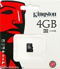 Lot of 25 x Authentic Kingston 4GB MicroSDHC Class4 Memory Card retail package