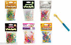 1800 Loom Bands Bracelet Making Refill Weaving Knitting Rubber Kit Charms 300x6
