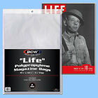 BCW: LIFE MAGAZINE Size Bags: 11 1/8 x 14¼ +flap 2 Pks (200ct) *FREE SHIP in USA image