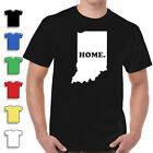 Home State T-shirts Indiana 100% Cottom New Quality Tee image
