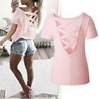 Купить Fashion Women's Summer Loose Top Short Sleeve Blouse Ladies Casual Tops T-Shirt