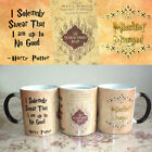 Harry Potter mug, Marauders map, Harry Potter map, Magic mug,Color Change Cup