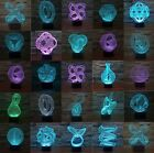 Abstract USB Illusion LED Night Lights 3D Acrylic Desk Lamp 7-color Touch Switch