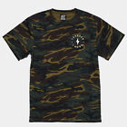 'FOREVER LUCKY' Camo T-Shirt by Art Disco top camouflage army graphic khaki text