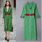 Occident Green Womens Lace V Collar Lace Hollow Formal Party Dress Slim Fit New