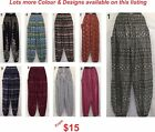 Ladies Harem Genie Gypsy Boho Yoga Printed Pants sizes 8 10 12 14 16 18 20 22 24